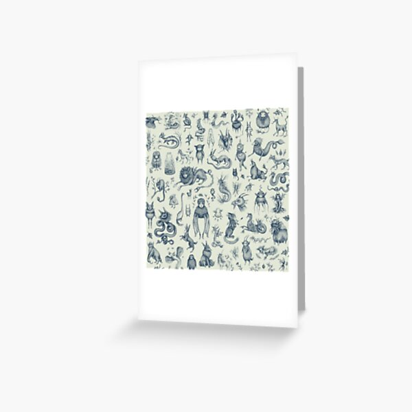 Beings and Creatures  Greeting Card