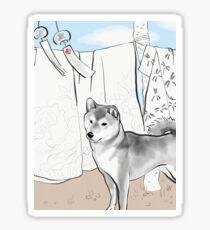 Shiba inu, Kimono and Summer breeze Sticker