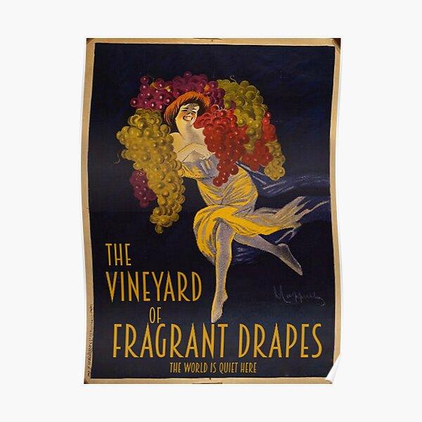 Visitez le vignoble des rideaux parfumés! Poster