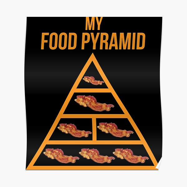 """Bacon Food Pyramid"""" Poster by mchanfitness   Redbubble"""