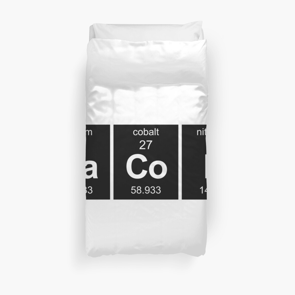 Bacon periodic table duvet covers by matt chan redbubble bacon periodic table by matt chan urtaz Gallery