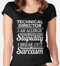 TECHNICAL DIRECTOR Women's Fitted Scoop T-Shirt