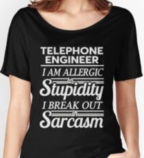 TELEPHONE ENGINEER Women's Relaxed Fit T-Shirt