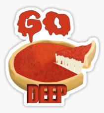 Go Deep Dish Sticker