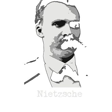 Friedrich Nietzsche philosophy lover gift t shirt by Johannesart