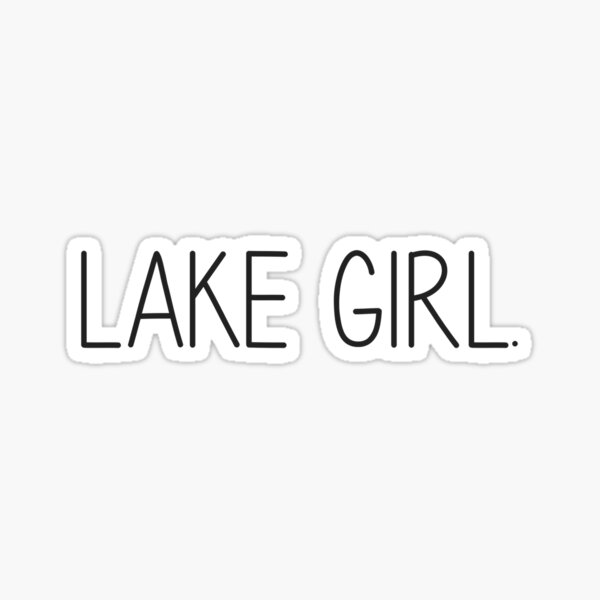 Lake Girl Sticker
