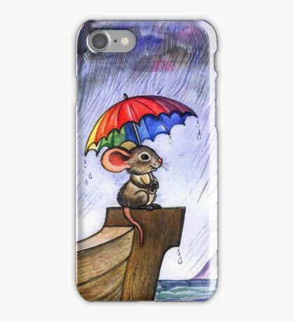 Little rainbow mouse iPhone Case/Skin
