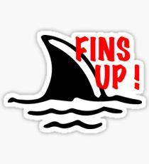 Fins Up! Sticker