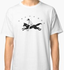 Virginia Frances  Sterrett - Girl Riding Star Speckled Fox Wolf Jumping Over Stars Classic T-Shirt