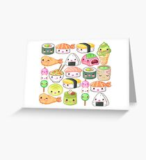 Japanese Foods Pattern Greeting Card