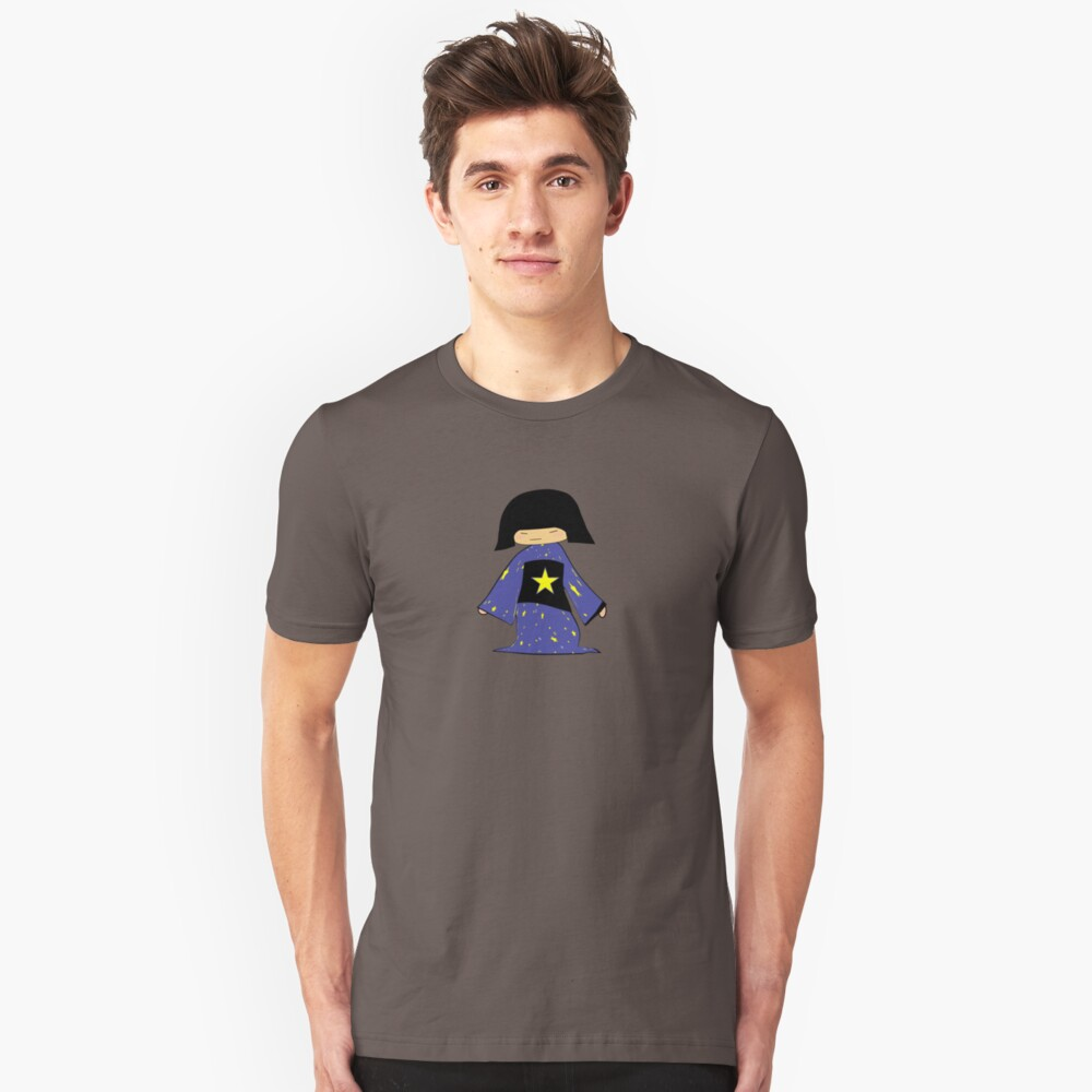 Japanese Girl With Star Unisex T-Shirt Front
