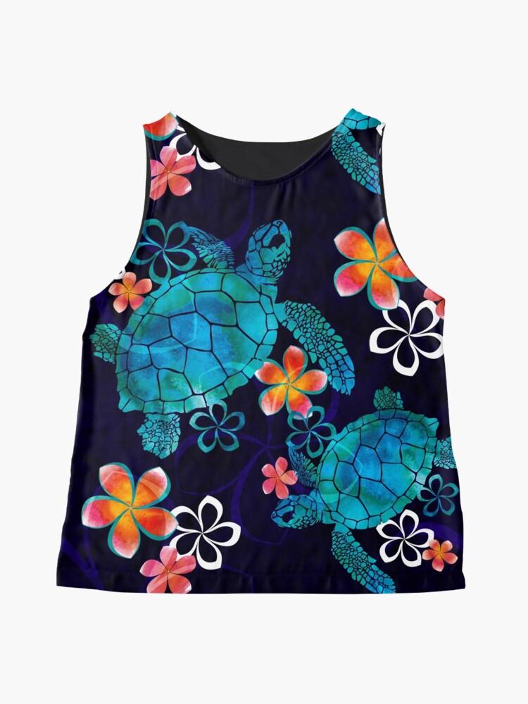 Alternative Ansicht von Meeresschildkröte mit Blumen Ärmelloses Top