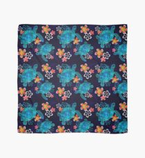 Sea Turtle with Flowers Scarf