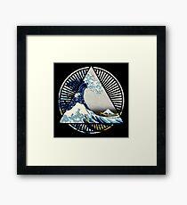 Hokusai - 36 Views Of Mount Fuji - Great Wave Off Kanagawa Geometric Triangle Shirt Framed Print