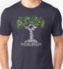 Bike Tree (white) Slim Fit T-Shirt