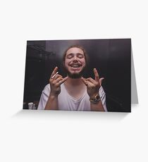 Post Malone Greeting Card