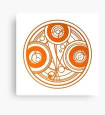Orange Circular Gallifreyan - Doctor Who Canvas Print