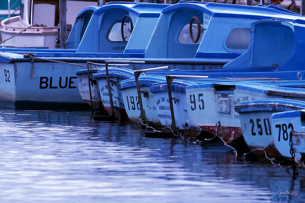 Blue Boats by teekay