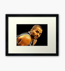 tony parker Framed Print