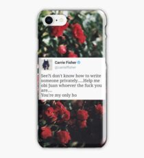 CARRIE FISHER FLORAL TWEET ♥️ iPhone Case/Skin