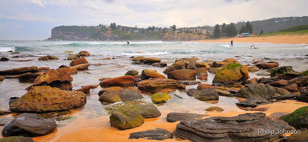 Avalon ..... On The Rocks - Avalon Beach, Sydney Australia by Philip Johnson