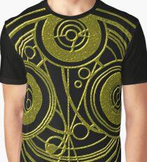 Golden Circular Gallifreyan Doctor Who Graphic T-Shirt