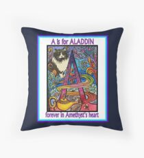 A is for Aladdin Throw Pillow