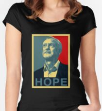 hope jeremy corbyn Women's Fitted Scoop T-Shirt