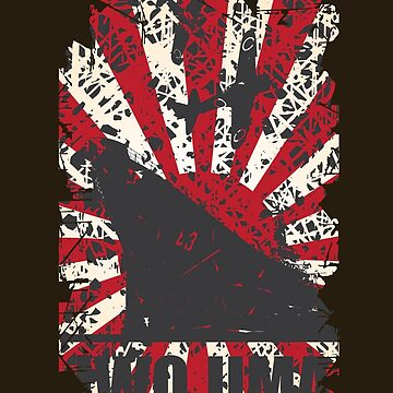 Pacific War Iwo Jima Japanese Navy Empire Flag WW2 T-Shirt by quark