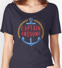 Captain Awesome Funny Nautical Women's Relaxed Fit T-Shirt
