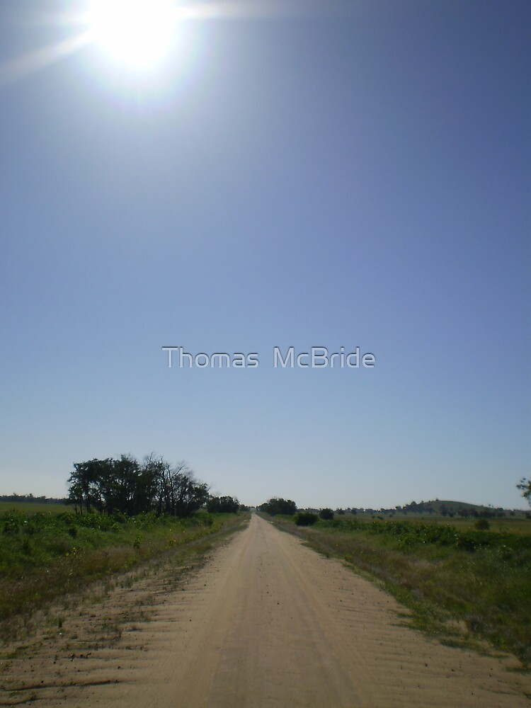 Dirt Road No End by Thomas  McBride