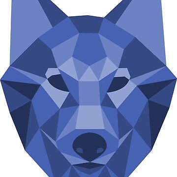 Geometric Wolf by allthingspass