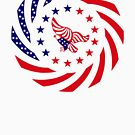 Independent Murican Patriot Flag Series by Carbon-Fibre Media