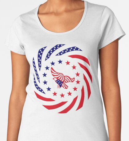 Independent Murican Patriot Flag Series Premium Scoop T-Shirt
