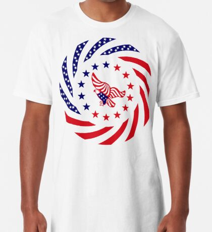 Independent Murican Patriot Flag Series Long T-Shirt