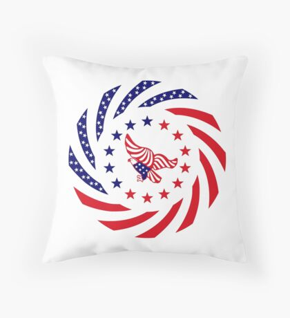Independent Murican Patriot Flag Series Throw Pillow