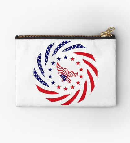 Independent Murican Patriot Flag Series Zipper Pouch