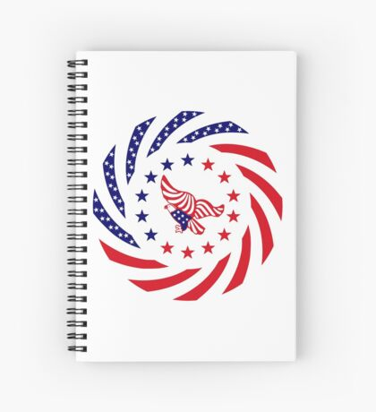 Independent Murican Patriot Flag Series Spiral Notebook