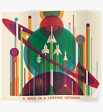 NASA JPL Space Tourism: A Once in a Lifetime Getaway Poster