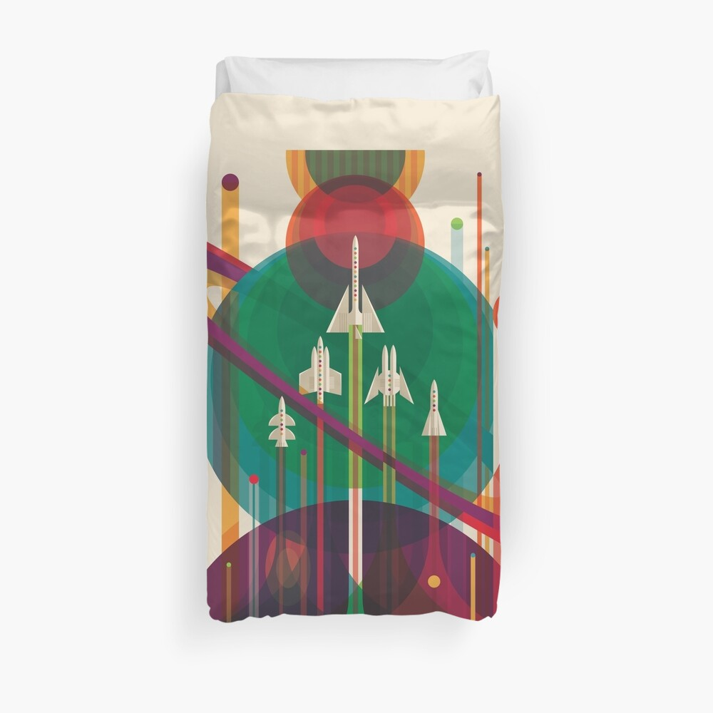 NASA JPL Space Tourism: A Once in a Lifetime Getaway Duvet Cover