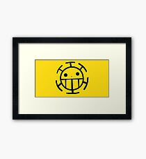 Heart Pirates Tee - Yellow Framed Print