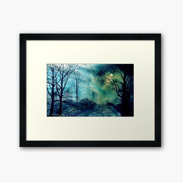 Whorlton castle at Swainby Framed Art Print