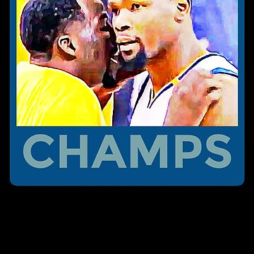 Kevin Durant Draymond Green Warriors Champs by TheVeeboo