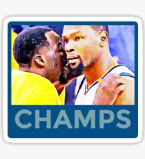 Kevin Durant Draymond Green Warriors Champs Sticker