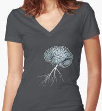 Brain Storm Women's Fitted V-Neck T-Shirt