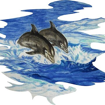 Dolphins at Sea T-Shirt Version by leororing