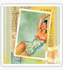 1940's Pin-up Girl Sticker