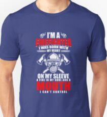 Firefighter T Shirt Fireman Fire Fighter Engineman Defender T-Shirt