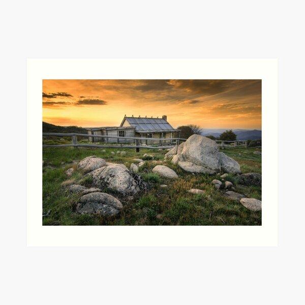 1081 Craig's Hut - Mt Stirling Art Print