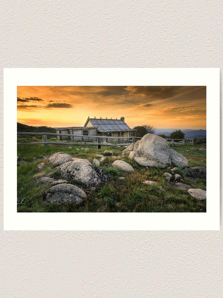 Alternate view of 1081 Craig's Hut - Mt Stirling Art Print